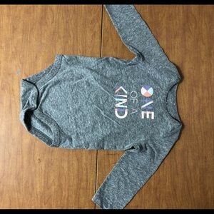 EUC Jumping Beans Sz 12M One Of A Kind Grey Onsie